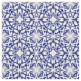 Modelo español de la teja de la acuarela azul y telas