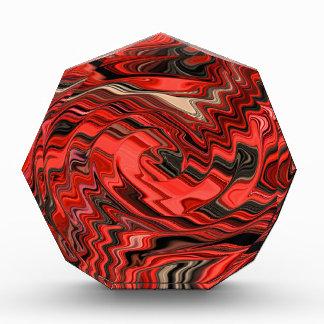 Modelo espiral abstracto dinámico rojo y negro del