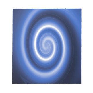 Modelo espiral azul brillante blocs de notas