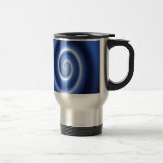 Modelo espiral azul brillante taza de café