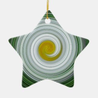 Modelo espiral blanco, amarillo, verde adorno de navidad