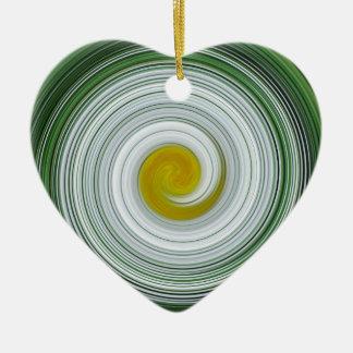Modelo espiral blanco, amarillo, verde ornamentos para reyes magos