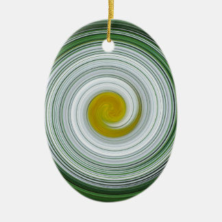 Modelo espiral blanco, amarillo, verde ornato
