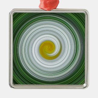 Modelo espiral blanco, amarillo, verde adorno