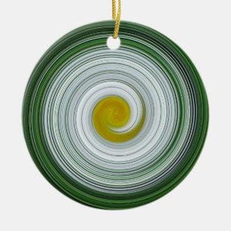 Modelo espiral blanco, amarillo, verde ornatos