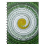 Modelo espiral blanco, amarillo, verde libro de apuntes con espiral