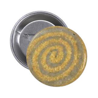 Modelo espiral de Nouveau del arte del oro de Klim Pin