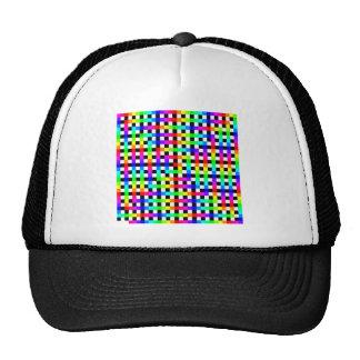 Modelo espiral del arco iris sobre líneas negras gorros