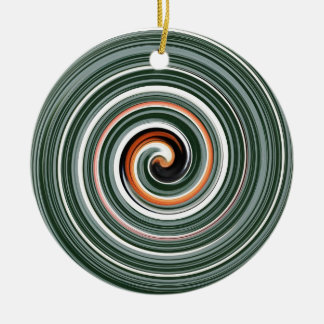 Modelo espiral gris y anaranjado adorno de reyes