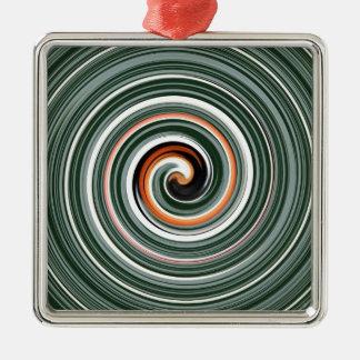 Modelo espiral gris y anaranjado ornamentos para reyes magos