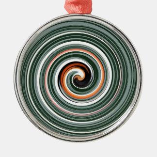 Modelo espiral gris y anaranjado ornamento para reyes magos