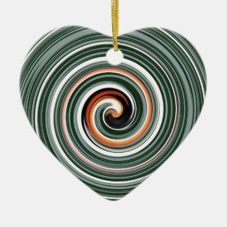 Modelo espiral gris y anaranjado ornamentos de navidad