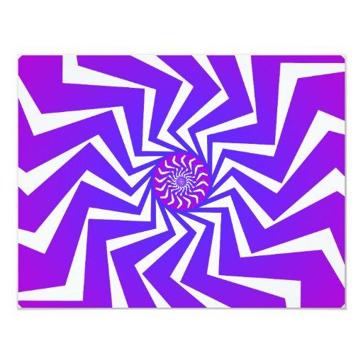 Modelo espiral psicodélico: Arte del vector: Invitación 10,8 X 13,9 Cm