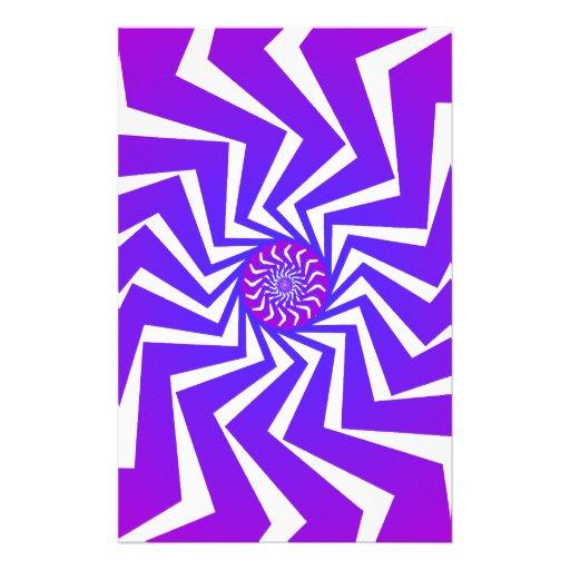 Modelo espiral psicodélico: Arte del vector: Papelería