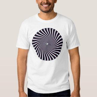 Modelo espiral psicodélico: Arte del vector: Playera