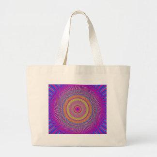 Modelo espiral psicodélico: bolsa de tela grande