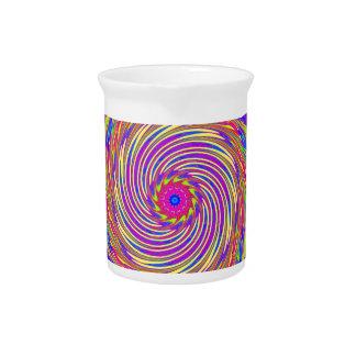 Modelo espiral psicodélico: jarra