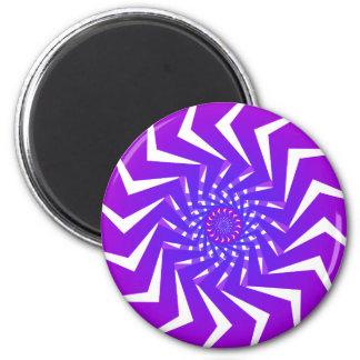 Modelo espiral púrpura: Arte del vector: Imán Redondo 5 Cm