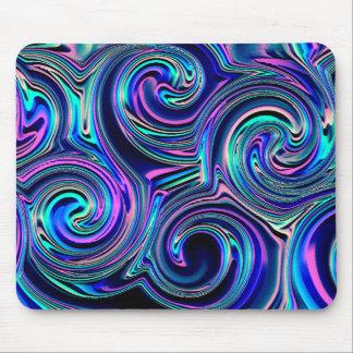 Modelo espiral púrpura de la turquesa azul alfombrillas de raton