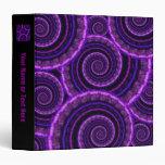 Modelo espiral púrpura del arte del fractal