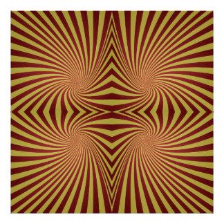 Modelo espiral rojo amarillo foto