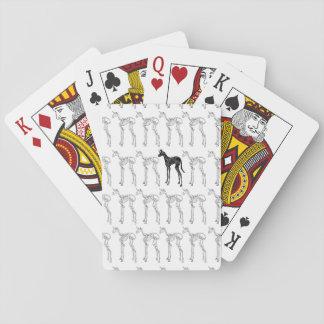 Modelo esquelético del unicornio baraja de cartas