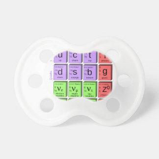 Modelo estándar de partículas elementales chupete de bebé