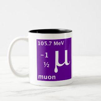 Modelo estándar muon taza de café
