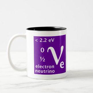 Modelo estándar (neutrino del electrón) taza de dos tonos