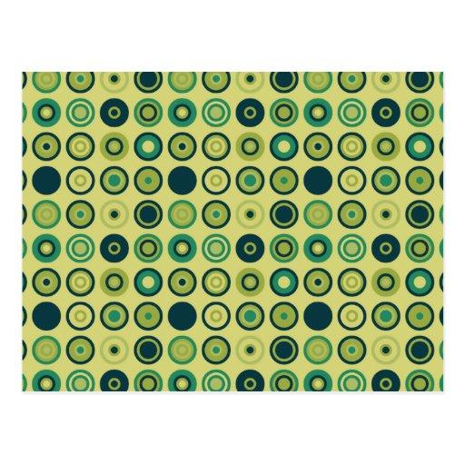 Modelo estilizado verde de los círculos postal