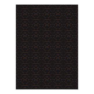 Modelo estrellado abstracto del arte del cielo invitación 13,9 x 19,0 cm