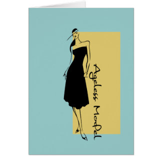 Modelo eterno tarjeta de felicitación