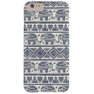 Modelo étnico azul del elefante funda de iPhone 6 plus barely there