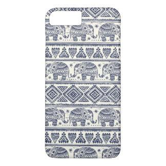 Modelo étnico azul del elefante funda iPhone 7 plus