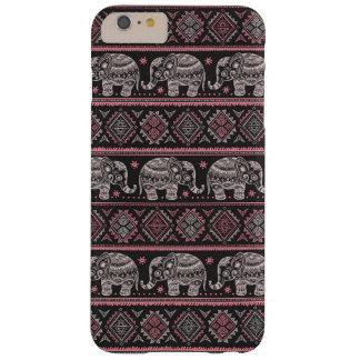Modelo étnico negro del elefante funda de iPhone 6 plus barely there
