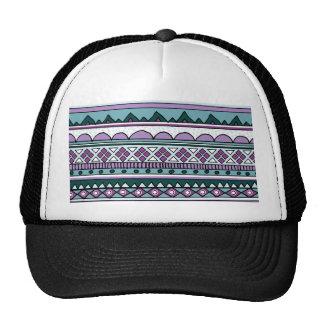 Modelo étnico púrpura gorras de camionero