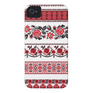 Modelo étnico ucraniano iPhone 4 protectores