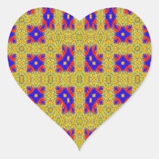 Modelo extraño abstracto pegatina en forma de corazón