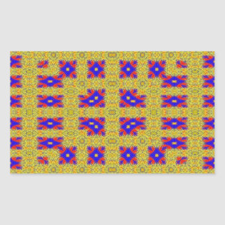 Modelo extraño abstracto pegatina rectangular