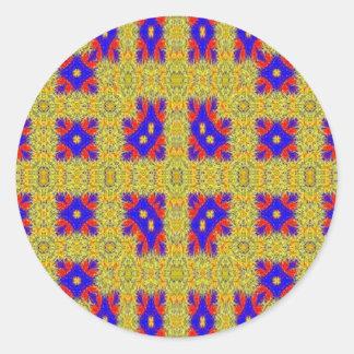 Modelo extraño abstracto pegatina redonda