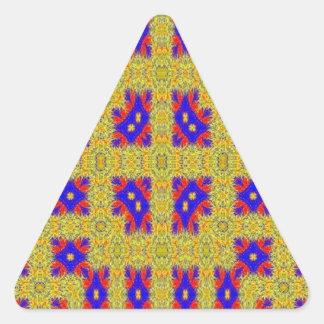 Modelo extraño abstracto pegatina triangular