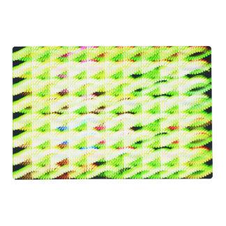Modelo extraño abstracto tapete individual