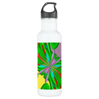 Modelo extraño colorido botella de agua