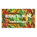 Modelo extraño colorido tarjeta de negocio