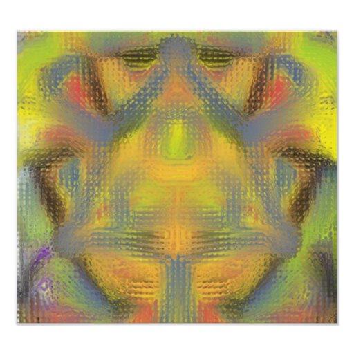 Modelo extraño del caleidoscopio impresiones fotográficas