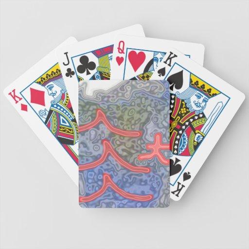 Modelo extraño e inusual baraja cartas de poker