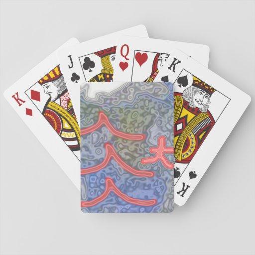 Modelo extraño e inusual cartas de póquer