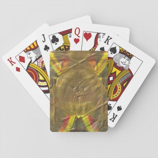 Modelo extraño inusual cartas de juego