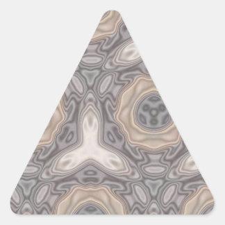 Modelo extraño moderno pegatina triangular