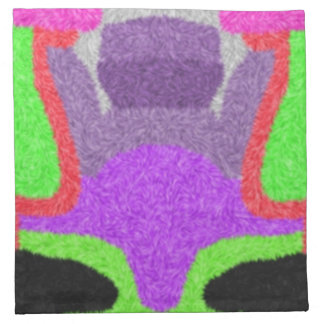 Modelo extraño multicolor servilleta de papel